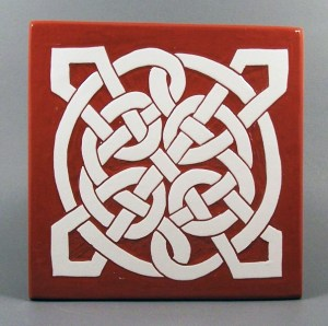 6 in. square St. James tile trivet - $20.