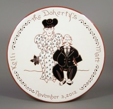 # 4 - 10 in. Wedding Plate - $49.