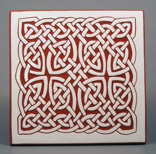 6 in. square Lace Knot tile trivet - $20
