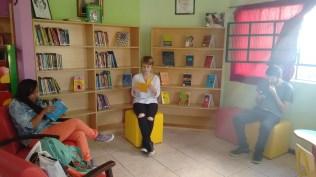 Espaço juvenil da biblioteca.
