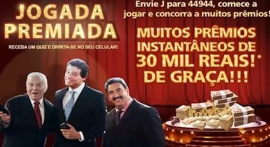 Promoção JOGADA PREMIADA do SBT