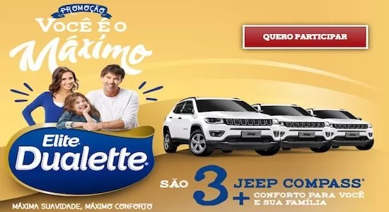 Cadastrar Promoção Você é o Máximo Elite Dualette R$ 300 Mil Reais - Rede da Promoção