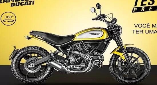 Cadastrar Promoção Scrambler Ducati Test Ride Premiado