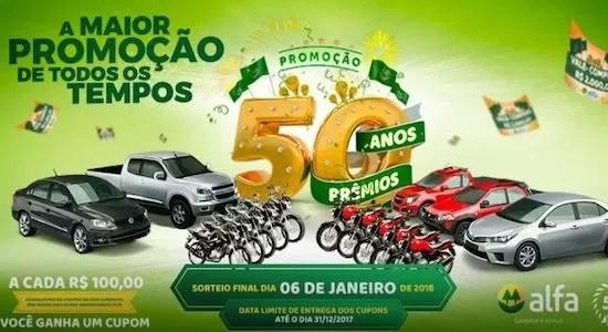 Cooperalfa Promoção 50 Anos 50 Prêmios