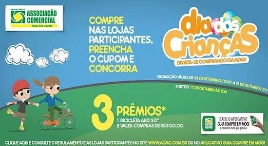 Promoção ACMC Dia Das Crianças Divirta-se Comprando Mogi das Cruzes