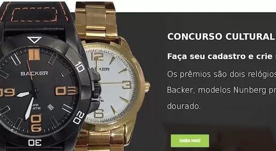 Cadastrar Concurso Cultural CADEVI Chronos Relógio Backer