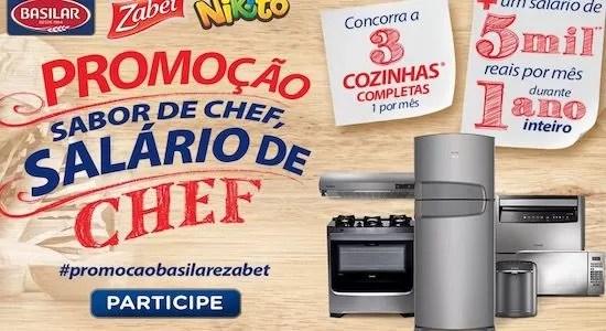 Promoção Basilar Sabor de Chef Salário de Chef
