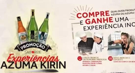Promoção Saboreie Experiência Azuma Kirin - Rede da Promoção