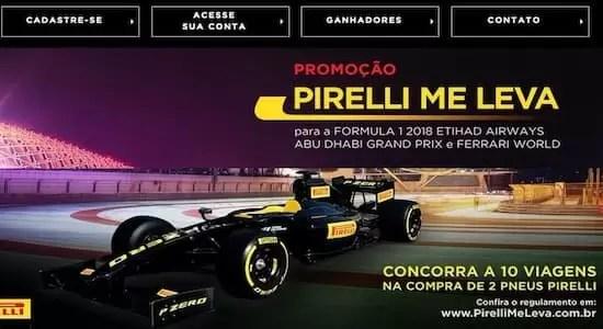 Promoção Pirelli Me Leva 2018