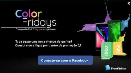 Cadastrar Promoção ShopFácil Color Fridays 2018