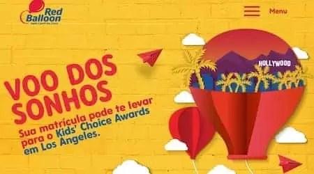 Promoção Red Balloon Voo Dos Sonhos - Rede da Promoção