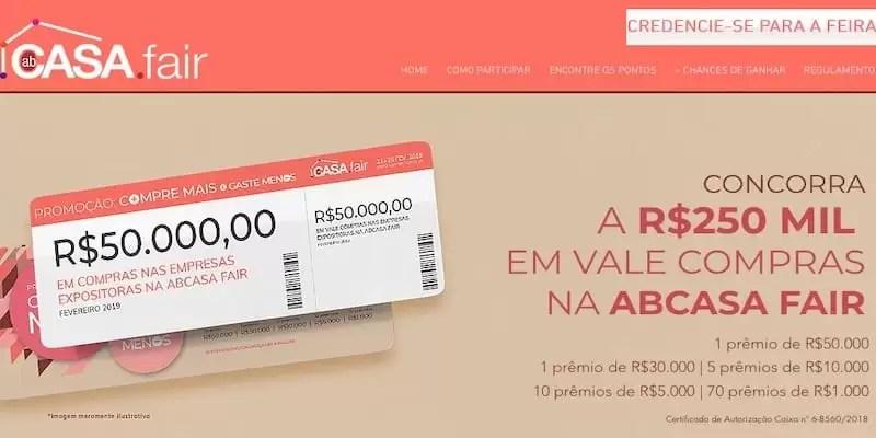 ABCasa Fair Cadastrar Compre Mais Gaste Menos - Rede da Promoção