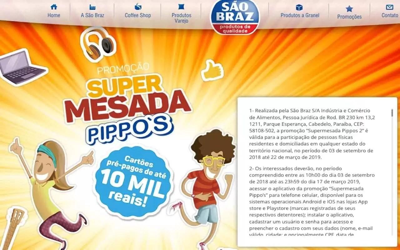 Promoção Pippo's 2019 Super Mesada - Rede da Promoção