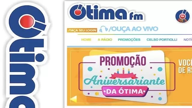Promoção Aniversariante Ótima FM