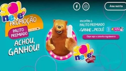 Promoção Palito Premiado Sol & Neve