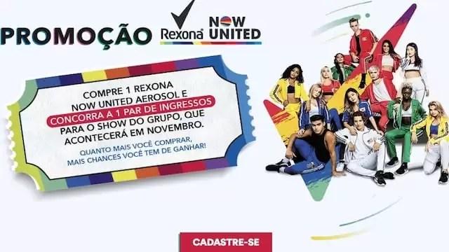 Promoção Rexona Now United Sorteio Regional