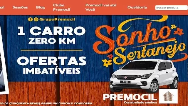 Promoção Sonho Sertanejo Premocil - Rede da Promoção