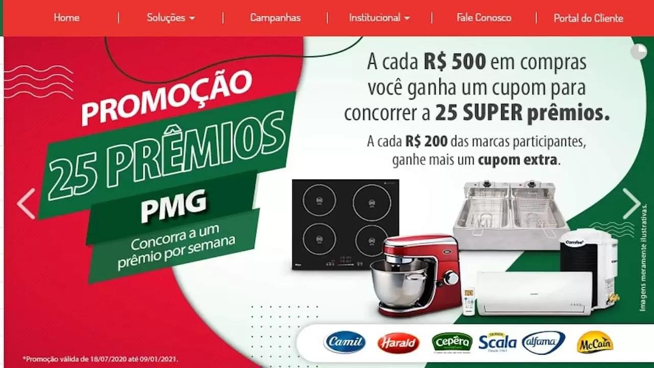 Promoção PMG Atacadista 25 Prêmios PMG