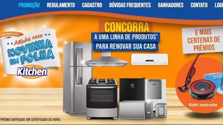premios da promocao Kitchen Minha Casa Novinha em Folha