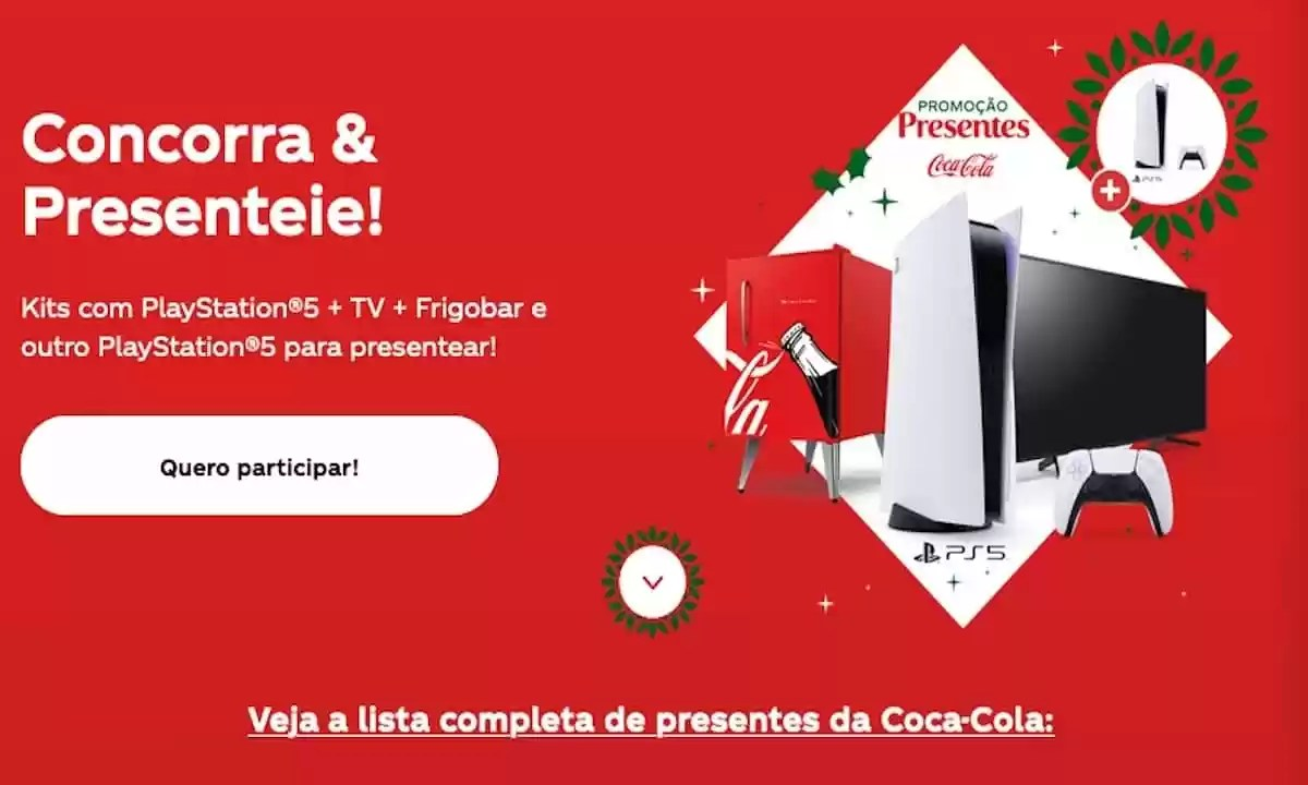 Promoção Coca-Cola Presentes