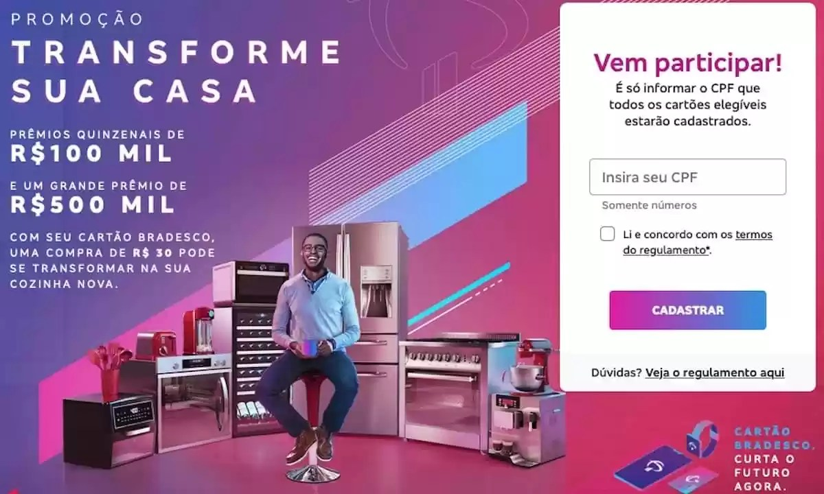 Promoção Bradesco Transforme Sua Casa 2020