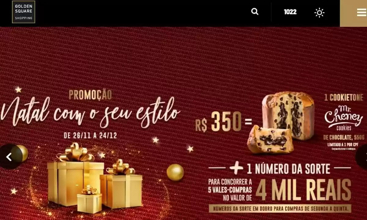 Promoção Golden Square Shopping Center Natal 2020
