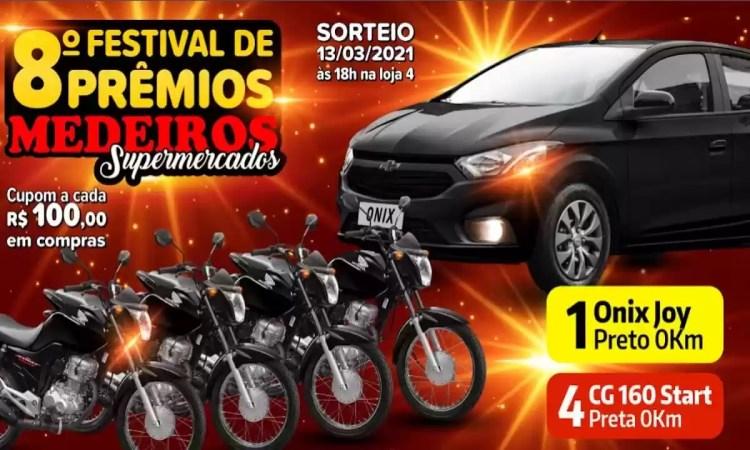 Promoção Medeiros Supermercados 8º Festival de Prêmios