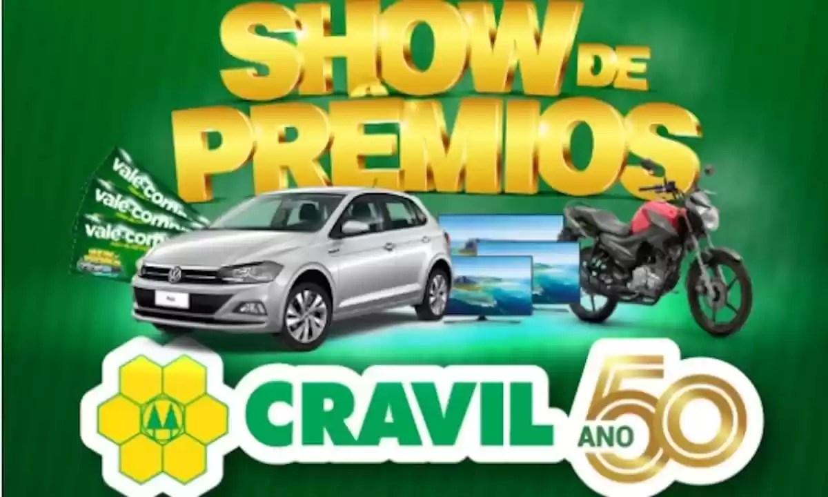 Promoção Cravil 2021 Show de Prêmios 50 Anos