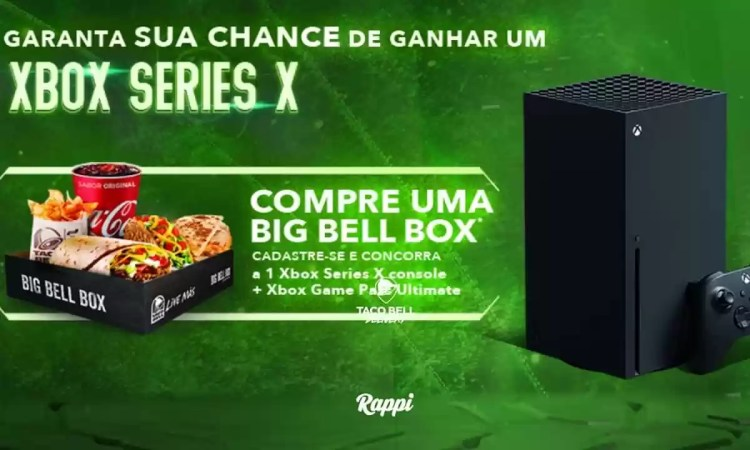 Promoção Taco Bell X-BOX Serie X