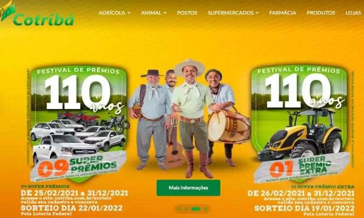 Promoção Cotribá Festival de Prêmios 110 Anos