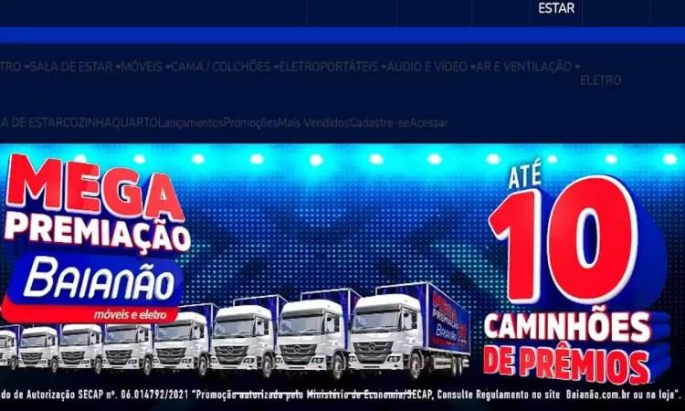 Caminhão de Prêmios Baianão