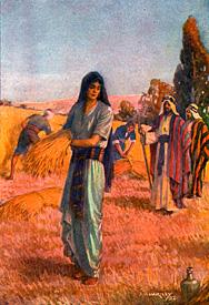 Ruth harvesting grain