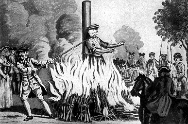 Image result for burned at the stake