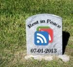Goodbye to Google Reader