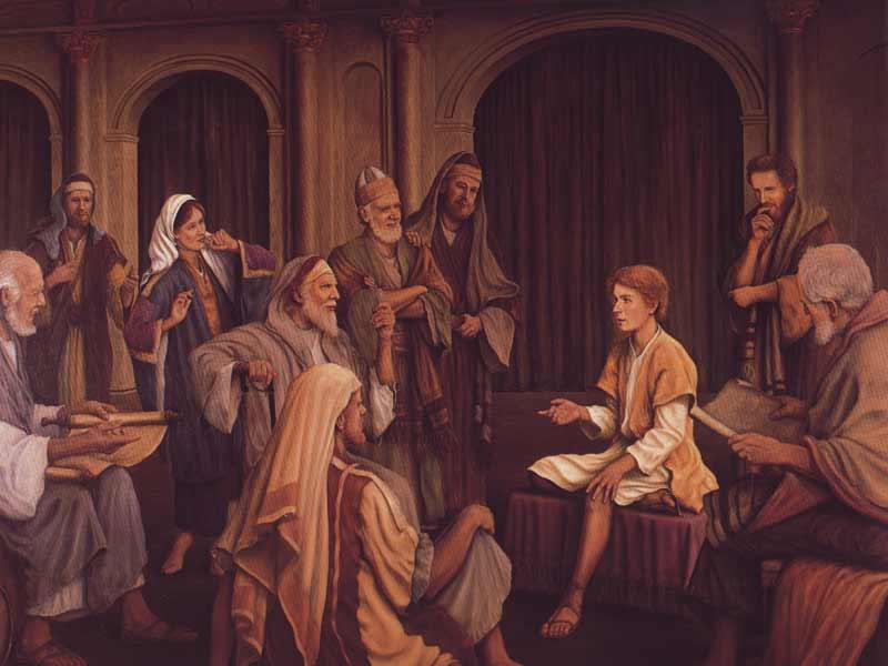 Luke 2 40-52 Boy Jesus in temple