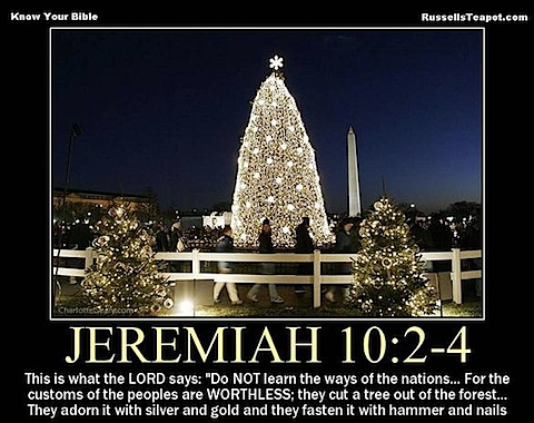 Christmas Tree idols Jeremiah 10