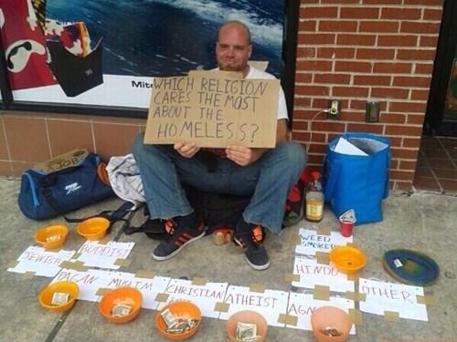 religion homeless