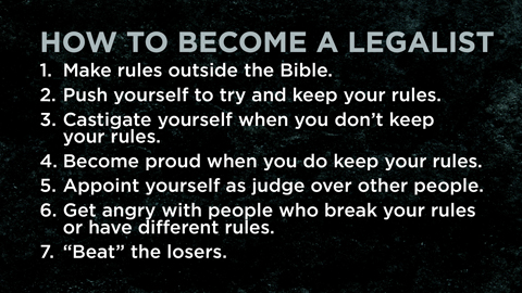The Gospel vs. Legalism
