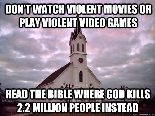 Bible is violent