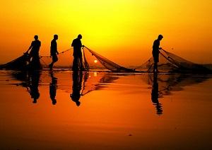 washing their nets in Luke 5