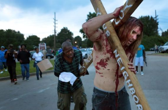Jesus in ferguson