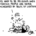 It's hard to be religious…