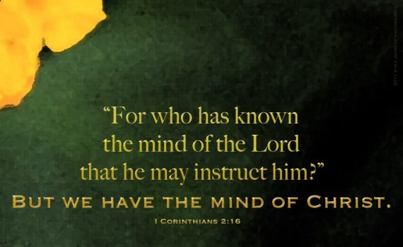 1 Corinthians 2:16 mind of christ