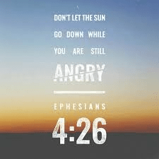 do not let the sun go down on your anger