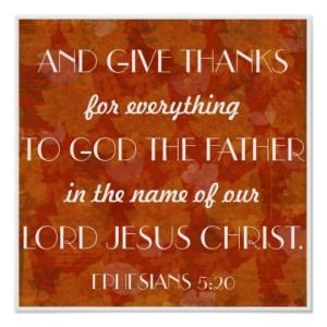 Ephesians 5:20 give thanks