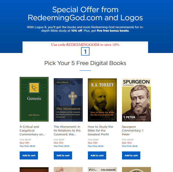 Coupon Code Logos Bible Software