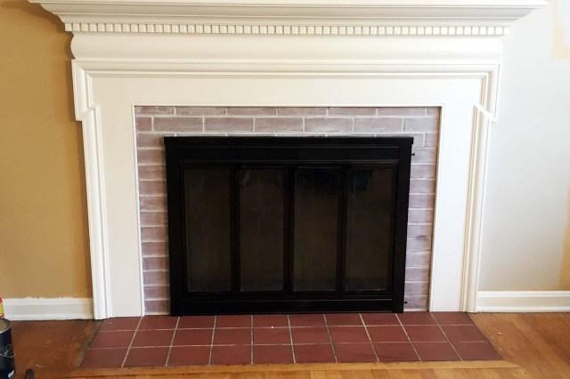 Fireplace Whitewashed Black