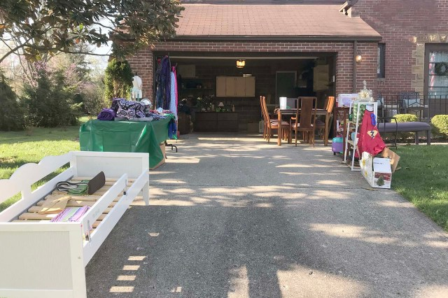 Yard Sale Set Up