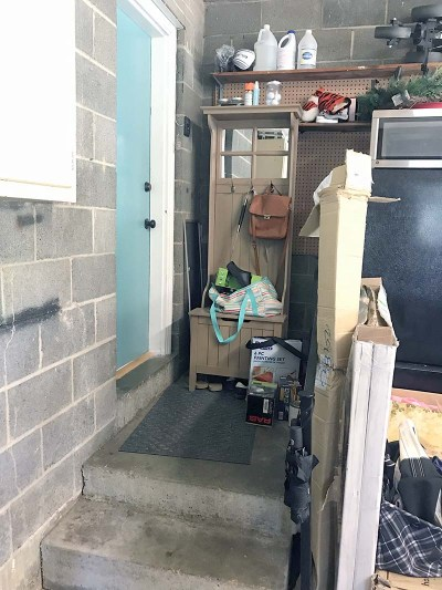 Garage Entryway Before