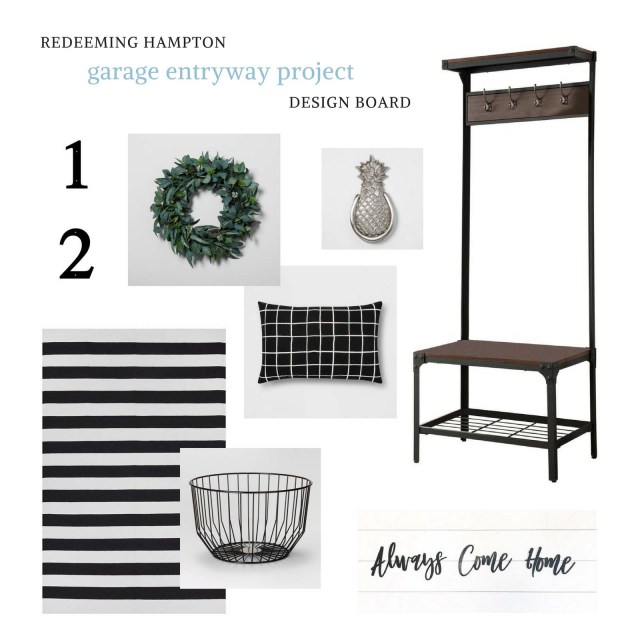 Garage Entryway Design Board